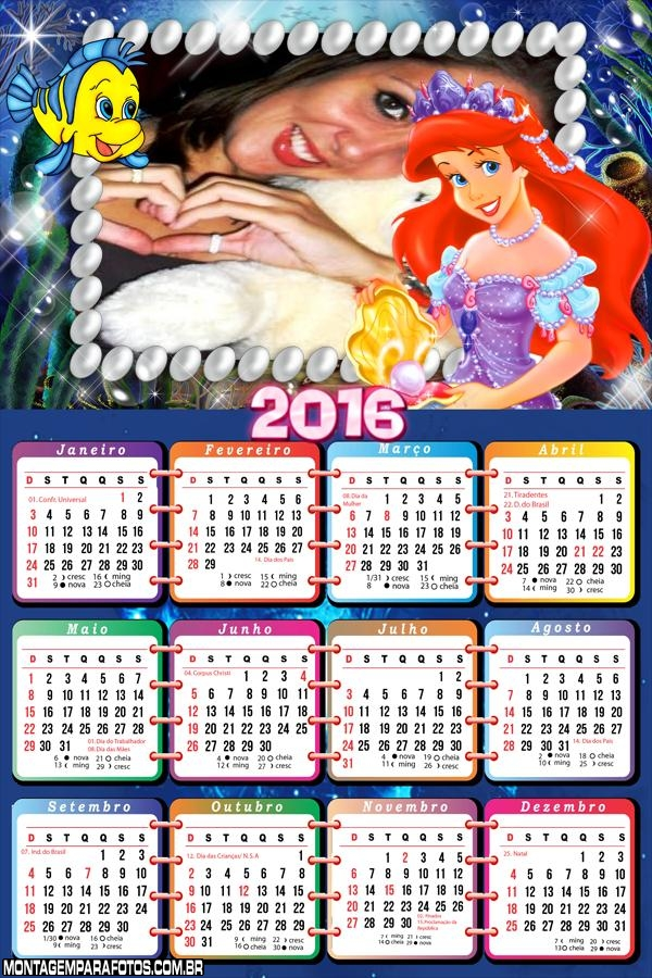 Calendário Moldura Ariel 2016