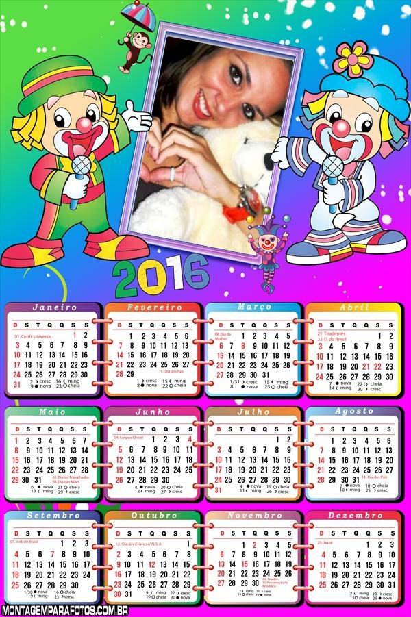 Calendário Infantil Patati Patatá 2016