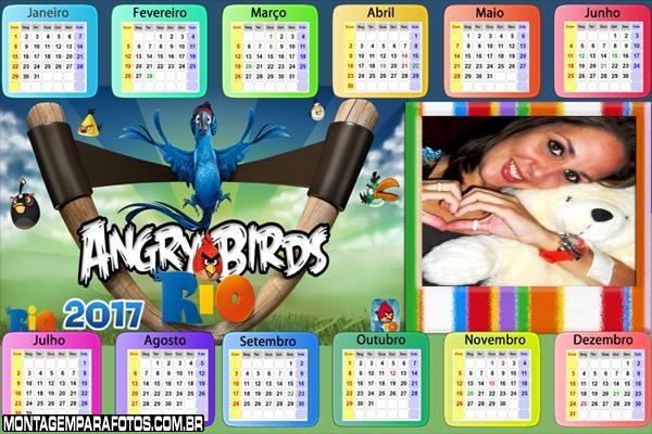 Calendário 2017 Desenho Angry Birds