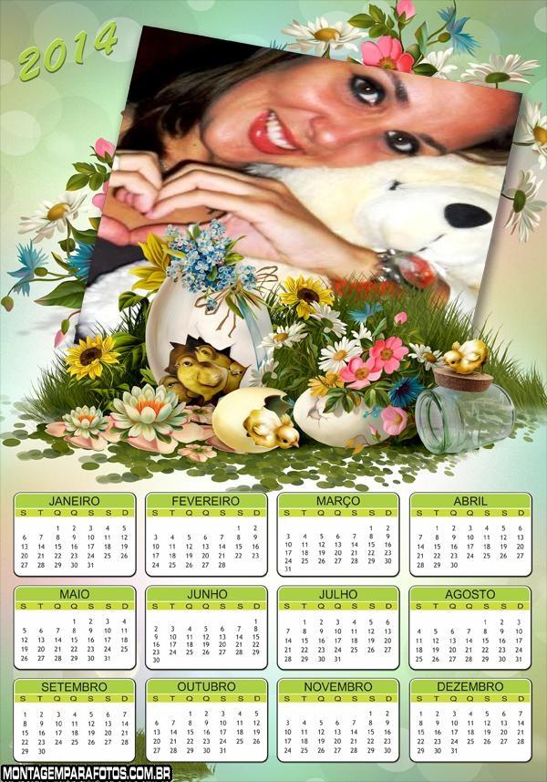 Calendário 2014 Pintinhos