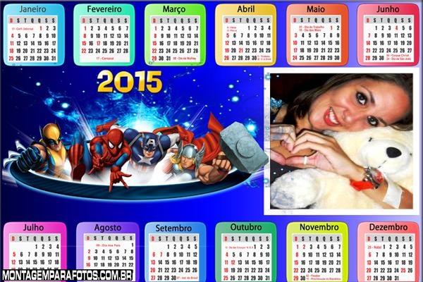 Calendário 2015 Marvel Heróis