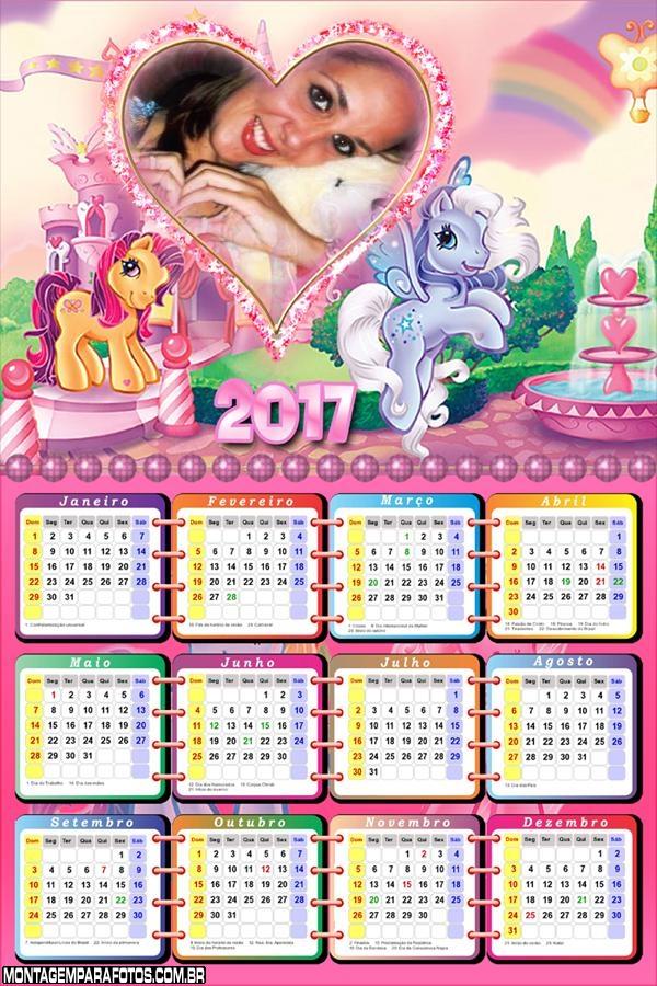 Calendário 2017 Pequenos Pôneis