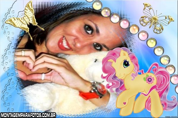 Moldura Poney da Barbie