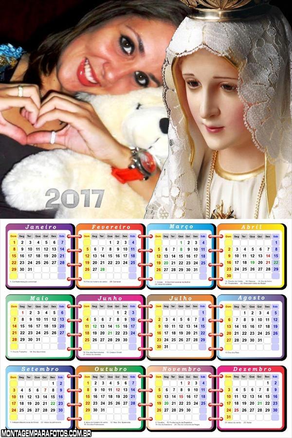 Calendário 2017 da Nossa Senhora de Fátima
