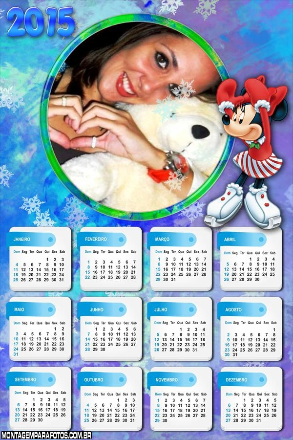 Neve Minie 2015 Calendário