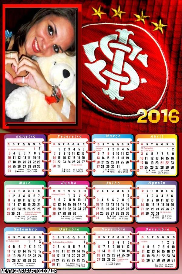 Calendário Time Internacional Futebol 2016