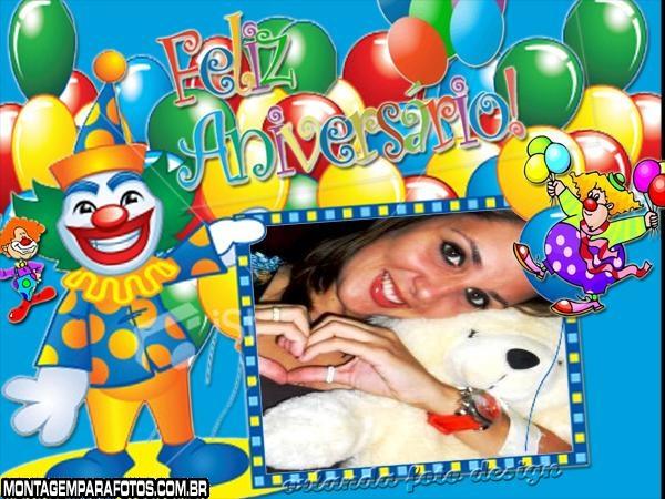 Moldura Circo Feliz Aniversário