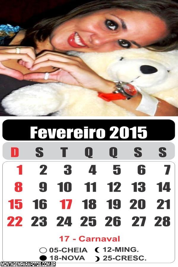 Calendário Fevereiro 2015