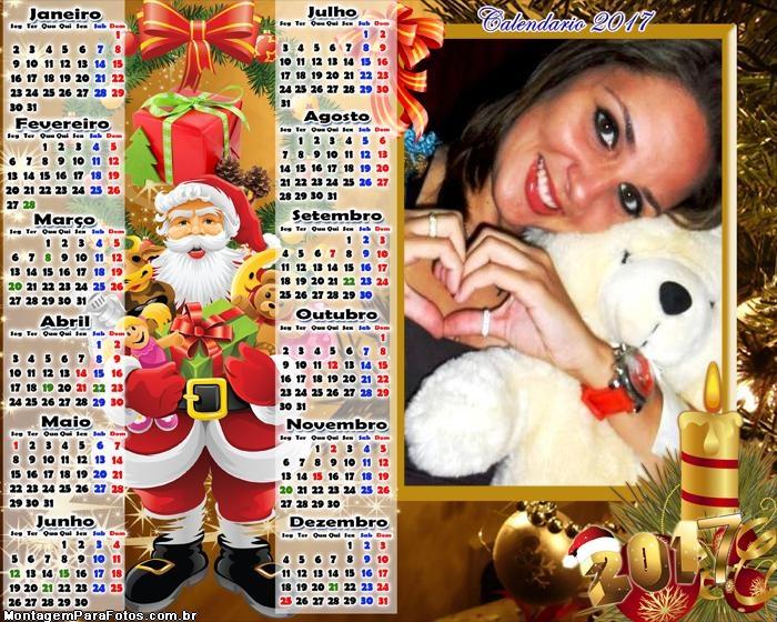 Calendário 2017 Brinquedos do Papai Noel