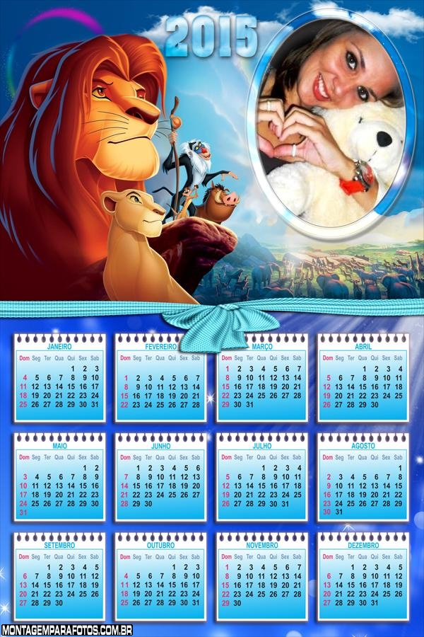 Calendário Rei Leão 2015