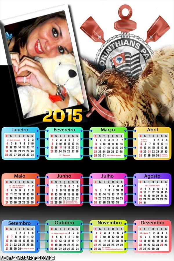 Calendário 2015 Corinthians Gavião