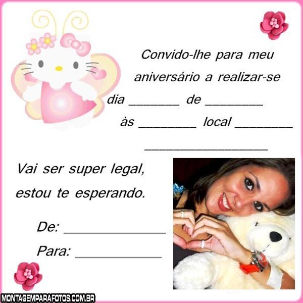 Convite Hello Kitty Aniversário