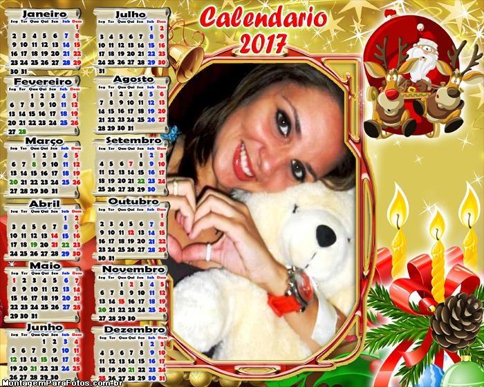 Calendário 2017 Natal com Amor