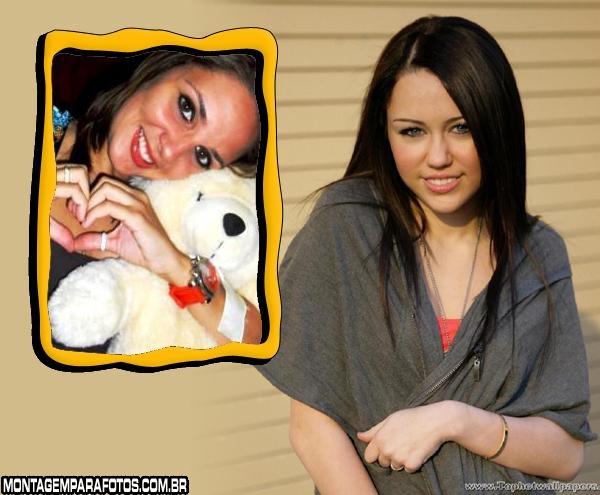 Moldura Miley Cyrus Morena