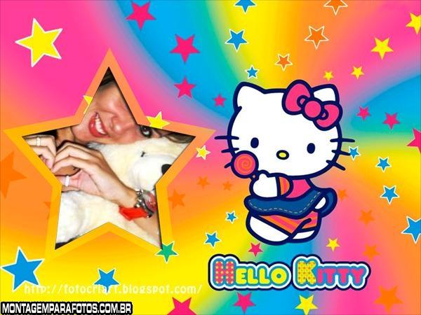 Moldura Arco Íris Hello Kitty