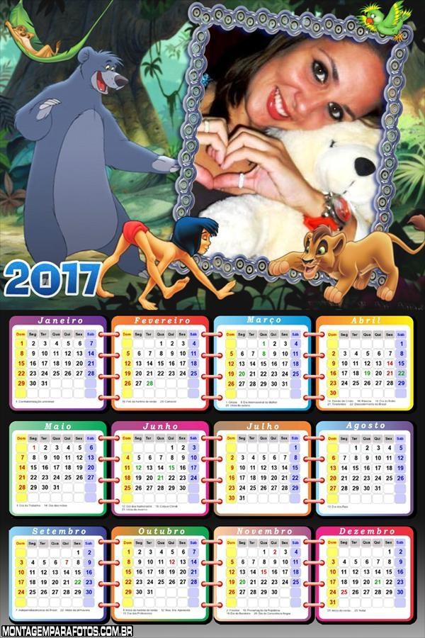 Calendário 2017 do Tarzan