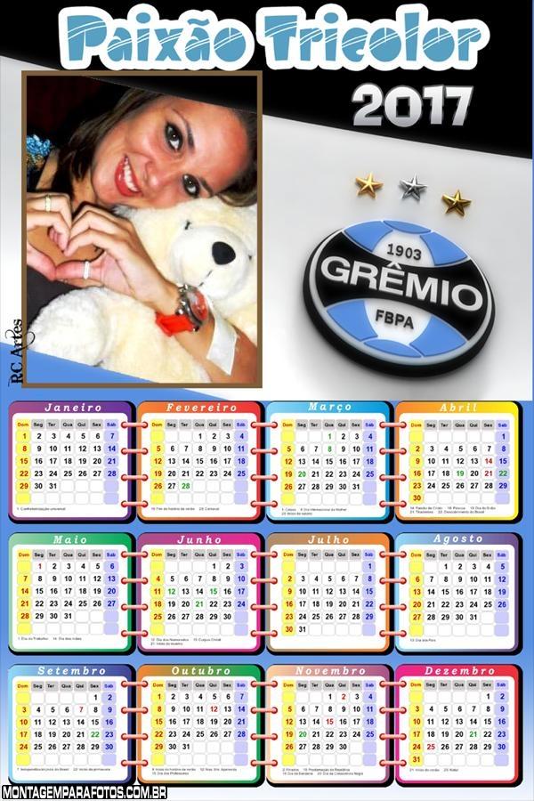 Calendário 2017 do Grêmio Futebol
