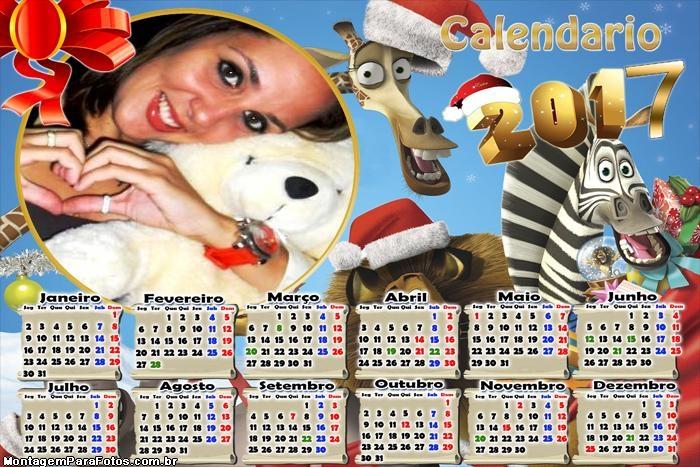 Calendário 2017 Animais de Madagascar