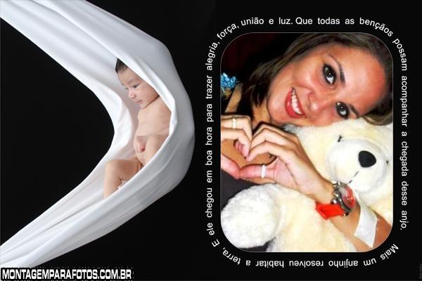 Chegada do Bebê Moldura