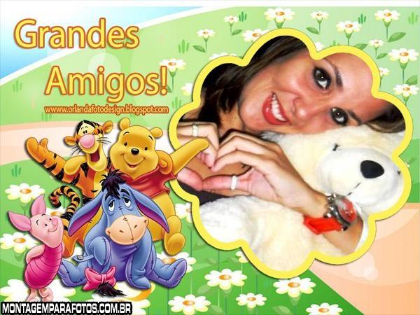 Moldura Grandes Amigos Pooh