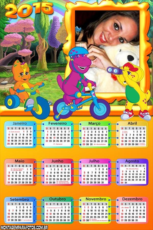 Calendário 2015 Barney Brincando