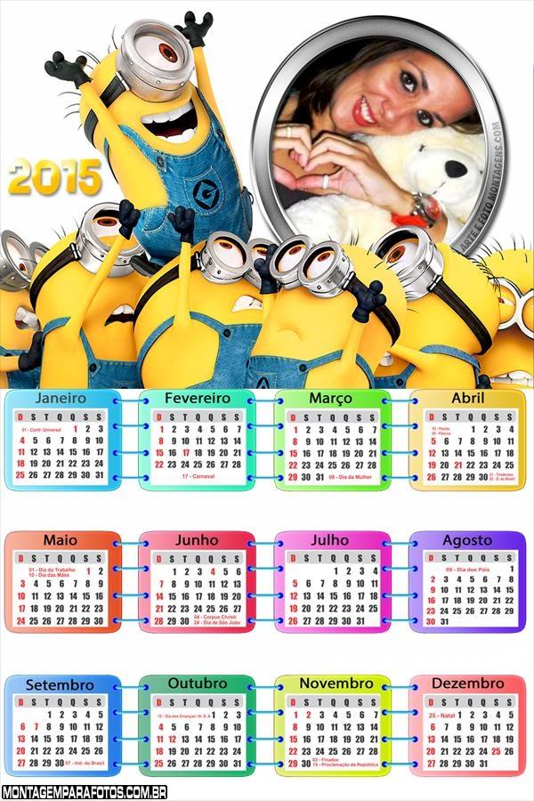Calendário 2015 Minions