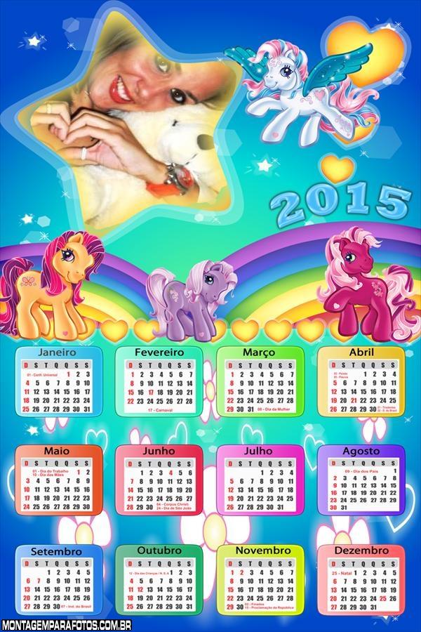 Calendário 2015 Pôneis Estrela