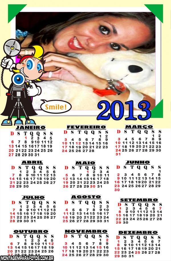 Fotografo Sorria Calendário 2013