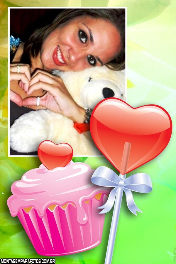 Cupcake e Pirulito de Aniversário