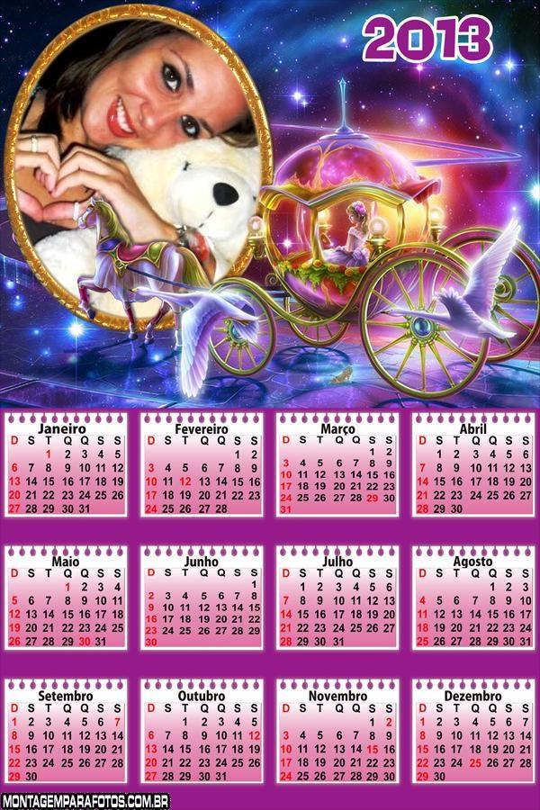 Calendário Carruagem 2013