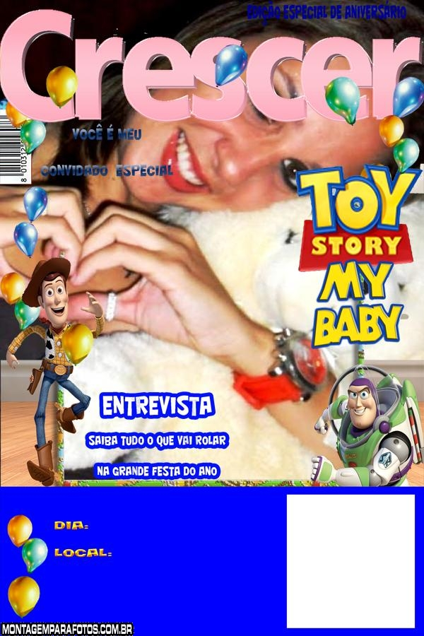 Convite Toy Story 3 My Baby