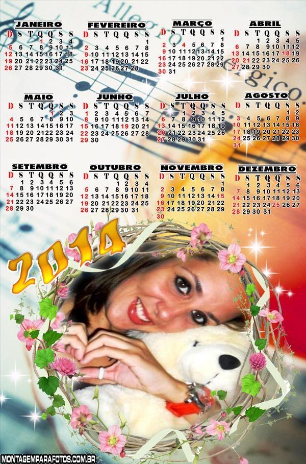 Calendário 2014 Musical