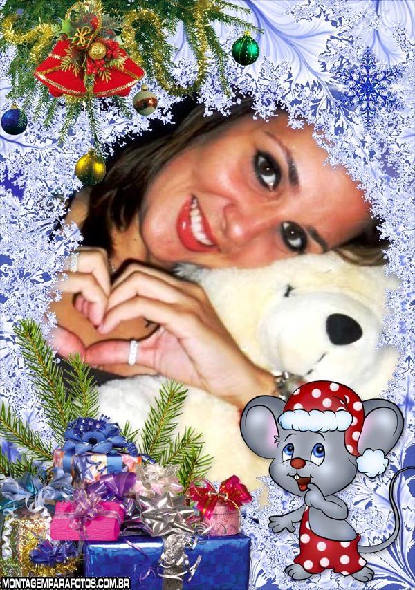 Moldura Ratinho de Natal