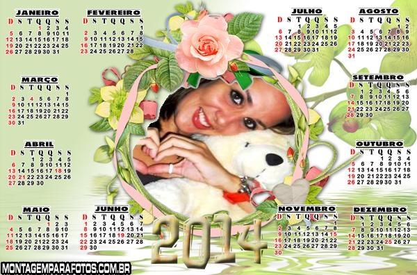 Coroa de Flores Calendário 2014