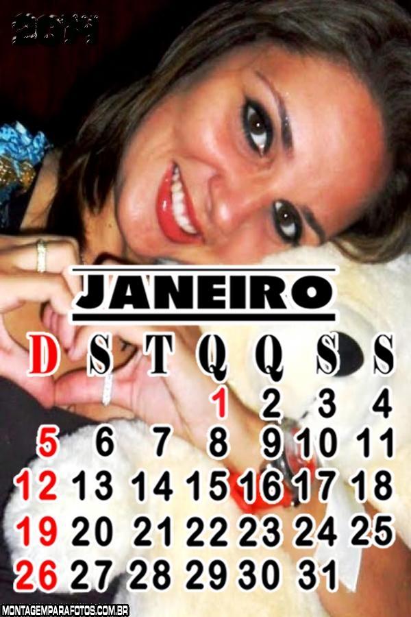 Calendário Janeiro 2014