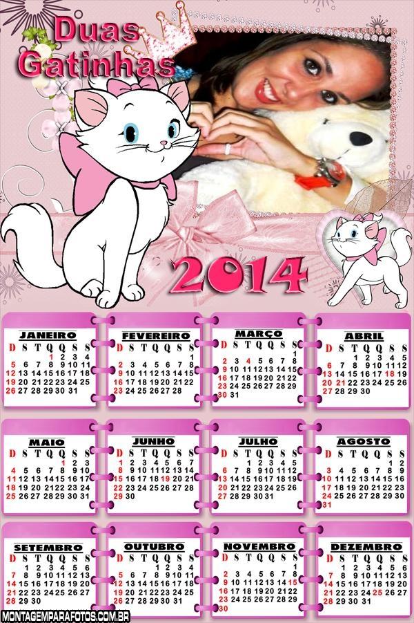 Calendário 2014 Duas Gatinhas