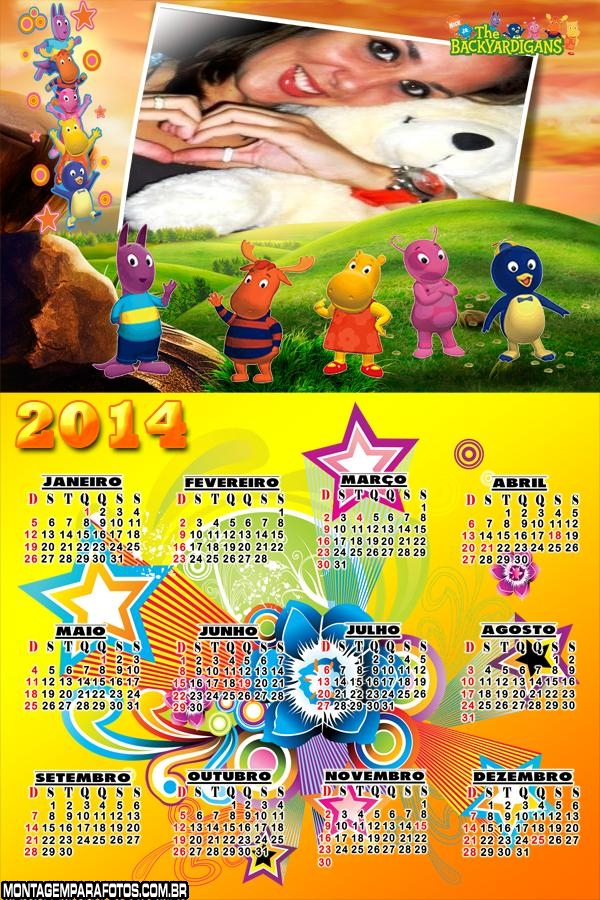 Calendário 2014 Backyardigans