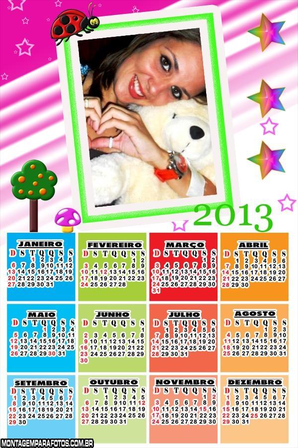 Calendário Joaninha 2013
