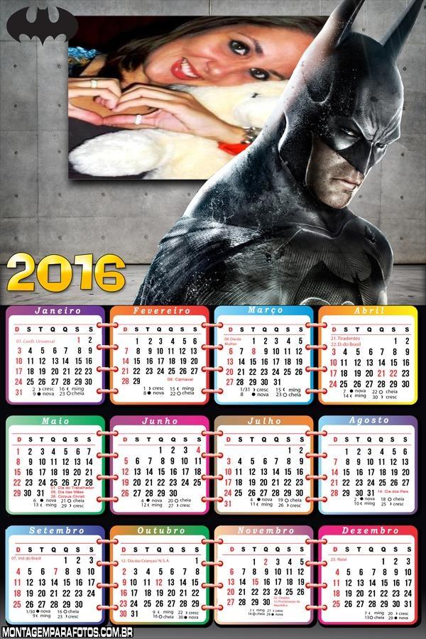 Calendário do Batman Negro 2016