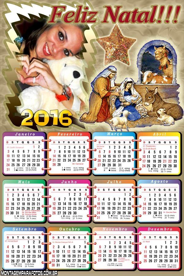 Calendário de Natal Menino Jesus 2016