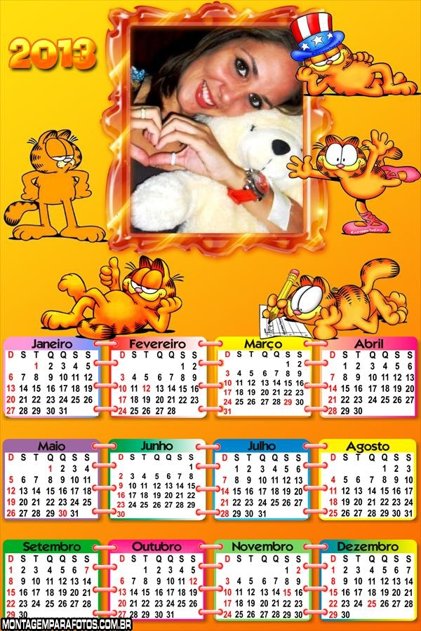 Calendário Gato Garfield 2013