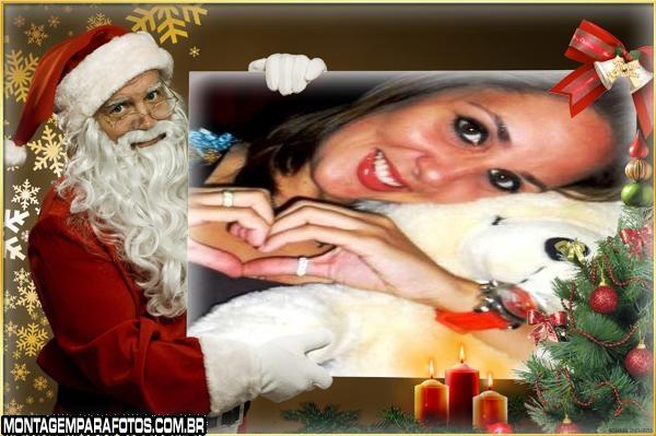 Moldura com o Papai Noel
