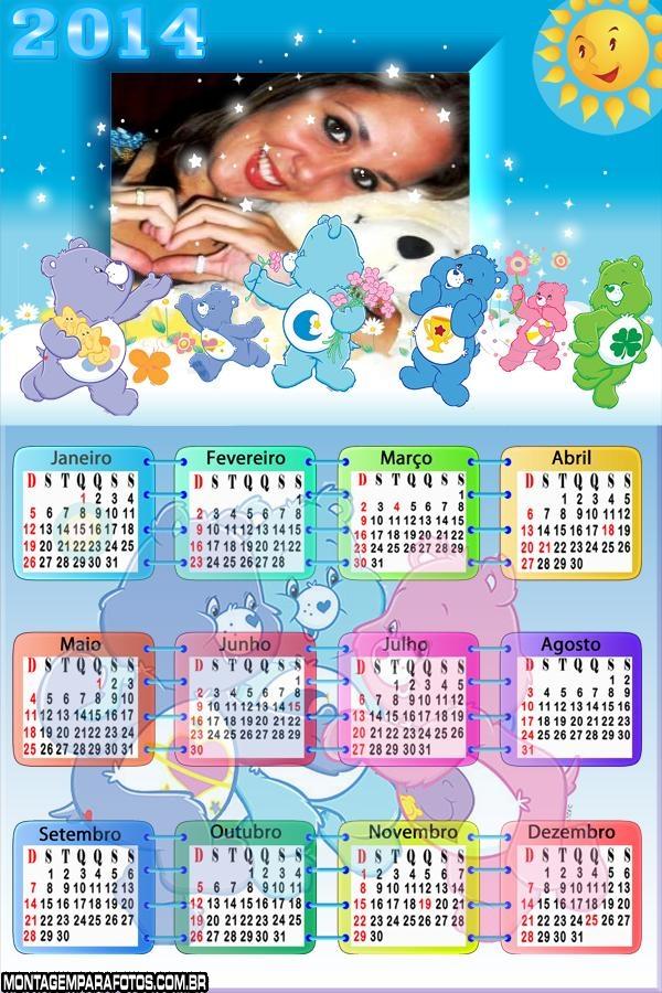 Calendário 2014 Os Carinhosos