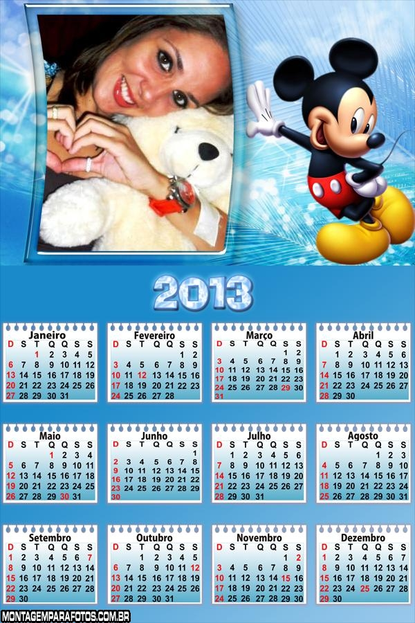 O Mickey no Calendário 2013