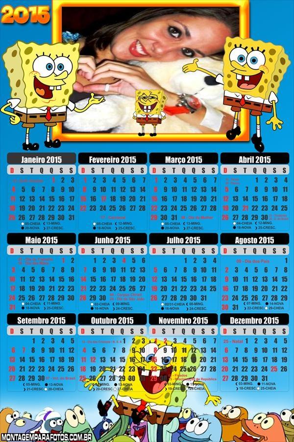 Calendário 2015 Bob Esponja