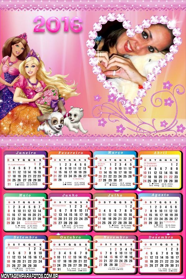 Calendário Cachorrinhos da Barbie 2016