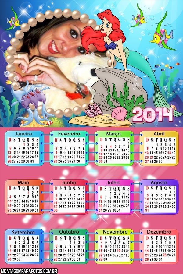 Desenho da Princesa Ariel 2014