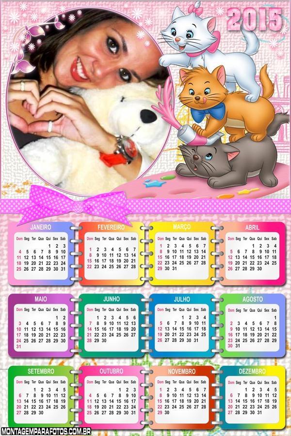 Calendário 2015 Gatos Trio