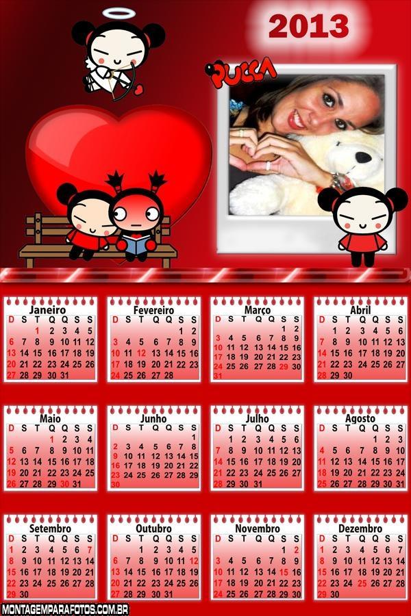 Pucca Amor Calendário 2013