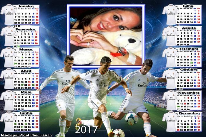 Calendário 2017 Cristiano Ronaldo Real Madri
